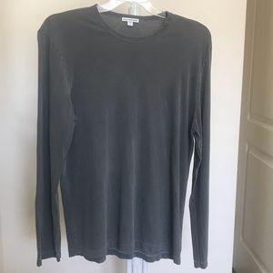 James Perse Gray Long-Sleeve Shirt